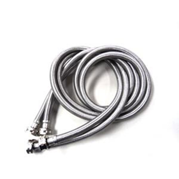 3 4 in x 3 4 in x 60 in stainless steel washing machine hoses 2 pack appliance edge. Black Bedroom Furniture Sets. Home Design Ideas
